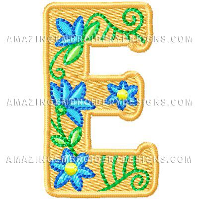 Free Embroidery Design – Letter E