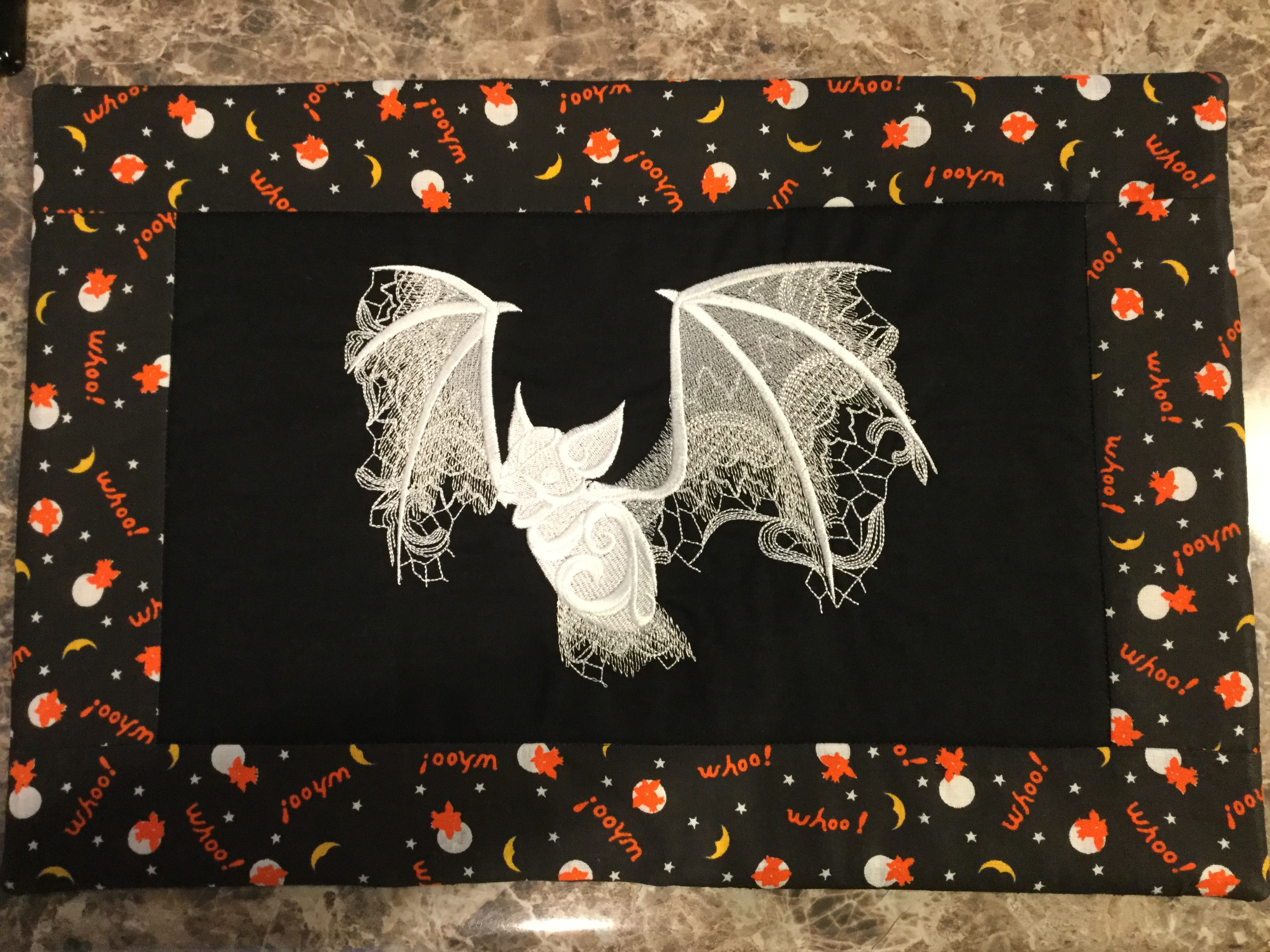 Placemats Are Finished My Dh Loves Bats So Here Is A Set Of Four Bat From Ut