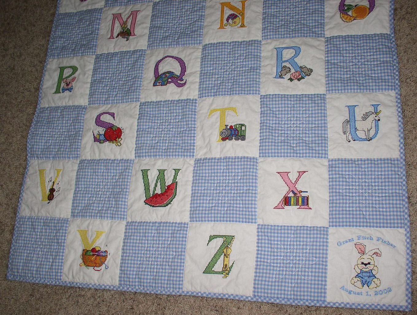 Free Embroidery Designs, Cute Embroidery Designs : cross stitch baby quilt - Adamdwight.com