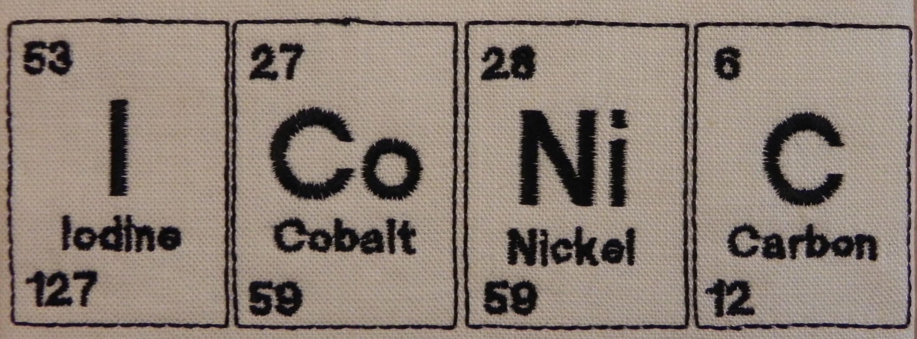 Free embroidery designs cute embroidery designs a second periodic table design im really pleased with this one gamestrikefo Images