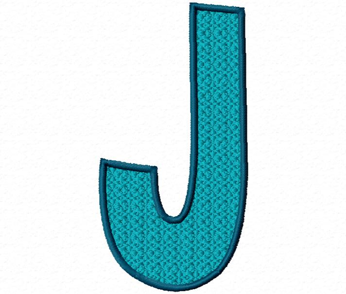 J Design Letter Free Embroidery...