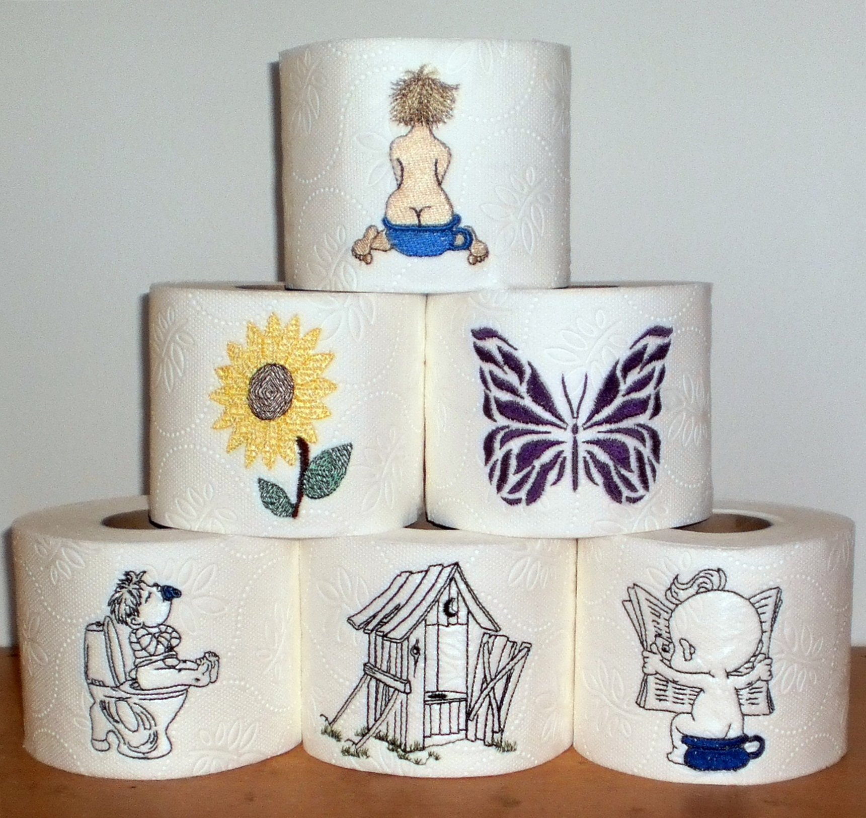 Embroidery designs for toilet paper - Here Is Some Of The Toilet Paper I Have Made This Is So Funny