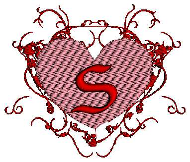 S Alphabet Letter In Heart Alphabet S In Heart pes and