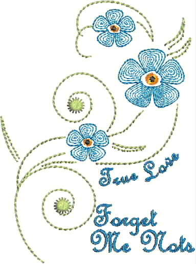 Forget Me Nots Ripple Style Requested Flower And Thought It Was Time For Something Blue Design 8570649