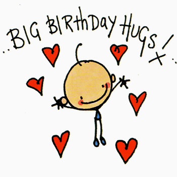 Image result for happy birthday hugs images