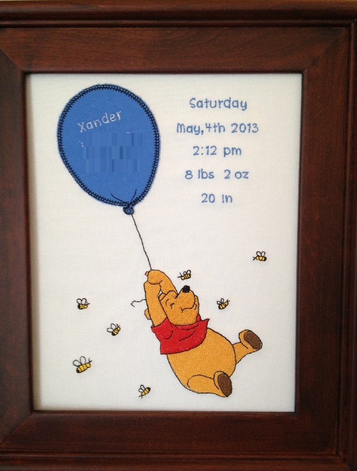 Free Embroidery Designs Cute Embroidery Designs – Winnie the Pooh Birth Announcements