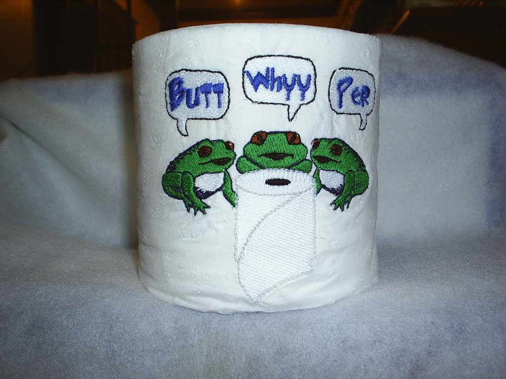Embroidery designs for toilet paper - 1 Images 1