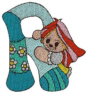 R Alphabet Design Ragdoll Alphabet Letter R 4x4