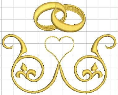 Izyaschnye wedding rings: Machine embroidery designs ...