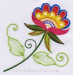 Cute Embroidery Flower