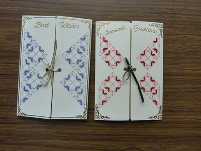 Free Stitching Card Patterns - make beautiful greetings cards
