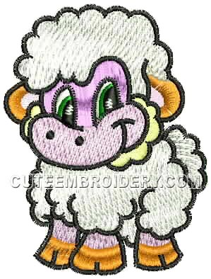 Baby Lamb Embroidery Designs