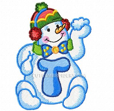 Cute Alphabets Happy Snowman Font