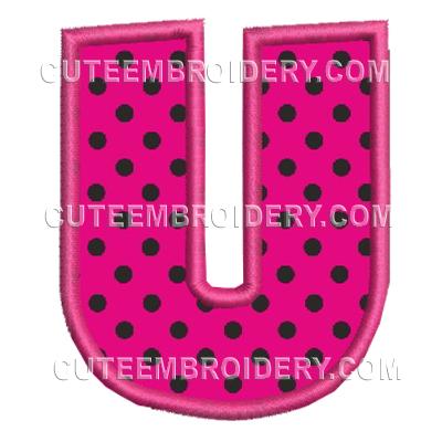 Free Embroidery Design – Letter U –