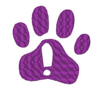 Free Paw Print Embroidery Design