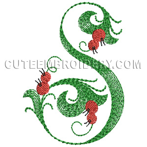 Free embroidery designs cute embroidery designs letter s design 604020 thecheapjerseys Gallery