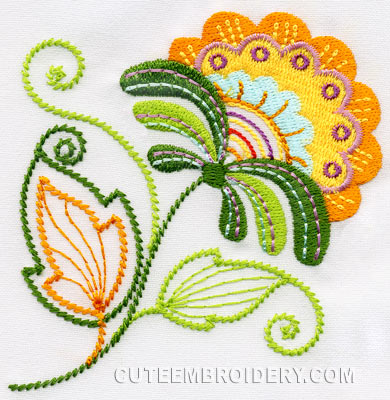 Jacobean Flowers Machine Embroidery Designs Free Embroidery Patterns