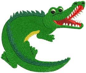 Alligator Machine Embroidery Design for 4x4 5x7 and 6x10  |Alligator Design Embroidery Floss