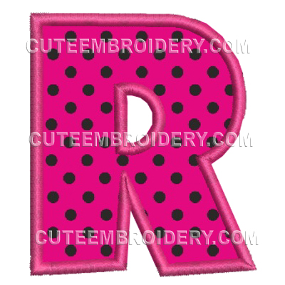 Free Embroidery Design – Letter R –