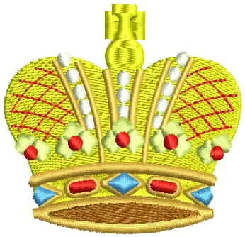 CROWN DESIGN EMBROIDERY FREE