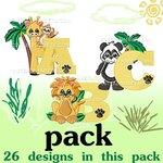 Zoo animal font