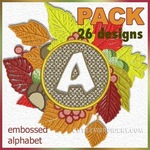 Embossed autumn font