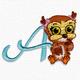 Cute owl font