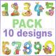 Garden Numbers Pack