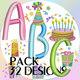 Birthday cap font