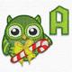 Christmas owl font
