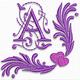 Purple heart font