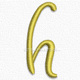 Letter h lowercase