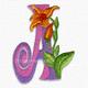 Bright flower font