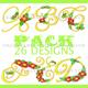 Christmas Flower Font