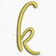 Letter k lowercase