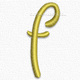 Letter f lowercase