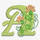 Pretty flower font