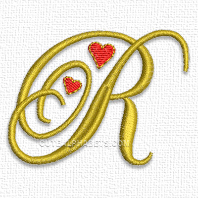The Letter R Designs letter r - cute alphabets - embroidery fonts