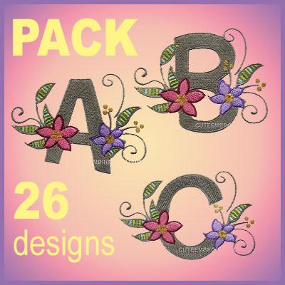 Floral Brooch font
