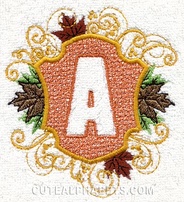 Autumn embossed font