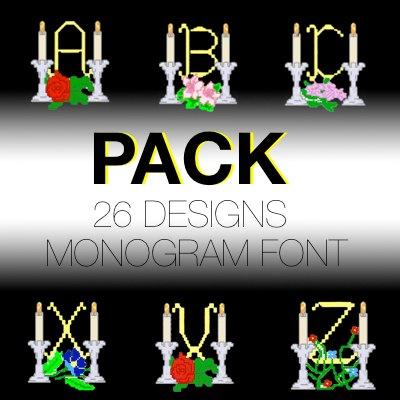 Monogram font 9