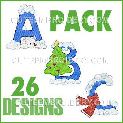 Winter Font Uppercase