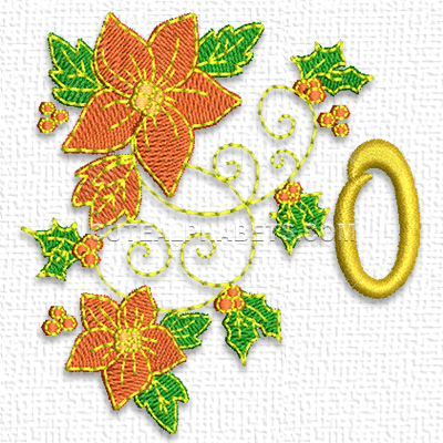 Christmas poinsettia numbers