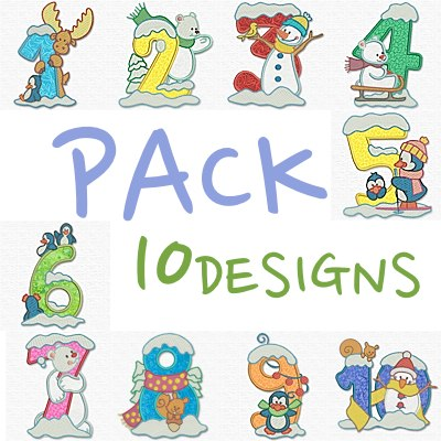 Christmas Applique Numbers