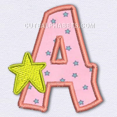 Baby applique font cute alphabets embroidery fonts baby applique font altavistaventures Images