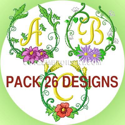 Floral Frame Font