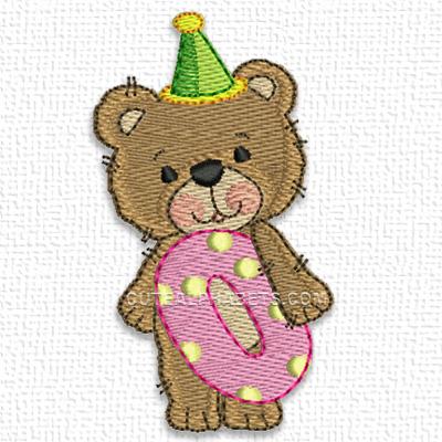 Birthday bear numbers