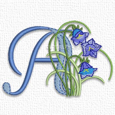 Meadowy flower font