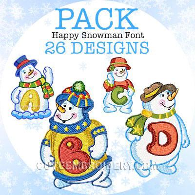 Happy Snowman Font