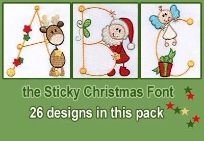 Sticky Christmas font